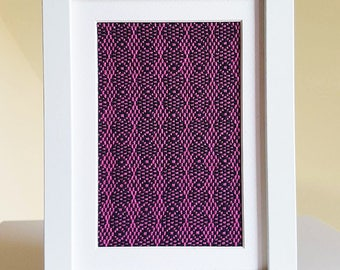 Framed Weaving No. 9 - Handwoven Textile Art