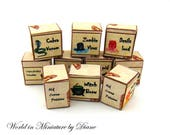 Dollhouse Witch Potion Boxes Kit 1:12 Witchy Items, PDF Dollhouse boxes, Dollhouse Wiccan Magic Spells, Dollhouse Digital Download