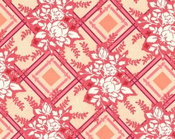 Michael Miller Strawberry Moon by Sandi Henderson Picket Fences fabric - 1 yard