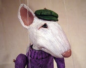 Biff the Bull Terrier  one-of-a-kind Marionette