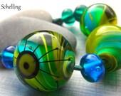 Marblelous  - Handmade Lampwork Glass Beads by Anne Schelling, SRA