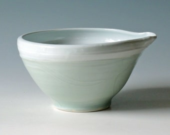 Handmade Pottery Batter Bowl.  Pottery Mixing Bowl.  Pottery Bowl.