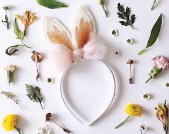 Bunny Ears, Woodland Floral Crown, Summer accessories, giddyupandgrow