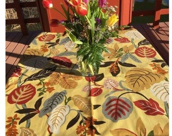 Tablecloth #66  Small Tablecloth, Tropical Table Cloth, Tablecloth, Tablecloths, Table Cloths, Table Linens, Heavy Cotton Tablecloth, Table