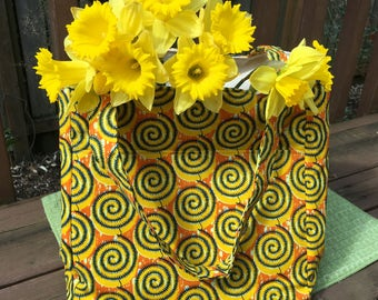 Beth #1775, Knitting Bag, Knitting Project Bag, Knitting Tote, Project Totes, Yarn Bag, Large Tote, Needle Point Bag, Expanding Tote, Bags