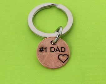 Number One Dad - Daddy Stamped Penny - Gift for Him - Daughter Gift For - Stamped Penny - Son Gift For - New Daddy - Best Daddy