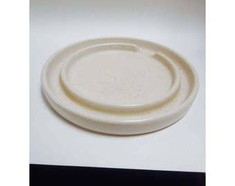 Gainey Ceramics Planter Draining Platter Saucer SC 10 Architectural Pottery Modernist  Planter Pot  La Verne saucer plate dish under White