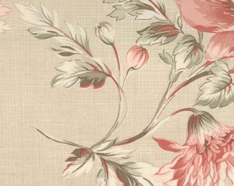 Oyster Floral #20-23 French General Favorites  Moda Quilt Fabric by the 1/2 yard