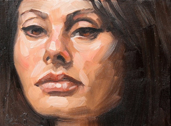 Sofia, oil on canvas panel 9x12 inches by Kenney Mencher