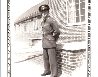 Vintage Photo - Man in Uniform - Vernacular, Military Photo (B)