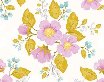 Promenade Purple Floral by Cyndi Walker-Stitch Studios for Riley Blake, 1/2 yard