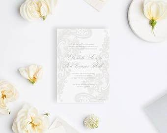 Wedding Invitation Sample - The Lace Suite