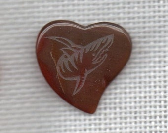 Natural stone heart shaped Guitar Pick
