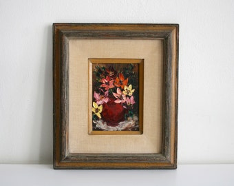SALE Mexican Impasto Bouquet Painting