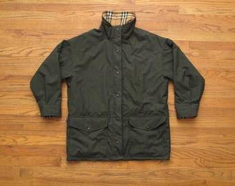 mens vintage Burberry's fleece lined jacket