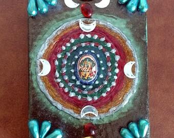 Krishna and Radha Mixed Media Piece