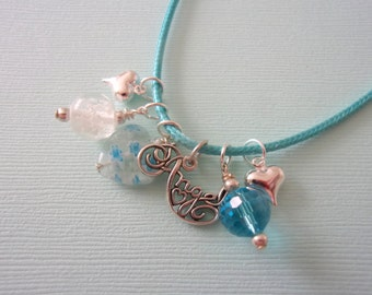 Angel Necklace, Sterling Charm, Glow in the Dark, Celestial