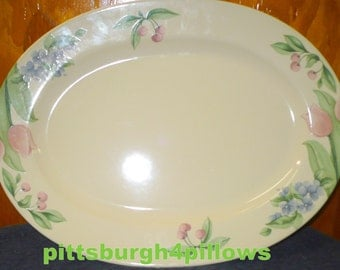 Pfaltzgraff - Garden Party - Meat Platter - 14 x 10 1/2 - EUC - No Damage