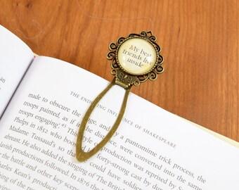 Best Friends Bookmark in Antique Brass, Gift for Reader