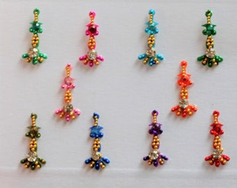 Bindi Self Adhesive Indian Dots Bollywood Belly Dance Dancer