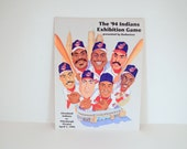 Cleveland Indians Exhibition Game Program Jacobs Field 1994