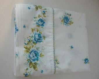 Sheet Full double size Flat vintage bed Sheet Gorgeous Vintage Rose Floral Sheet Crisp Cotton Wondercale#Antique Bedding#Shabby Chic Bedding