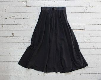 Evan Picone Chiffon Skirt S/M • 90s Skirt • Tea Length Skirt • Black Maxi Skirt • Chiffon Maxi Skirt • Flowy Skirt • Black Skirt   SK678