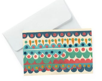 Dots Vintage Inspired Pattern Blank Greeting Card