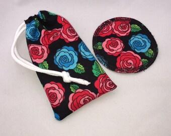 Menstrual Cup Coaster Menstrual Cup Bag Roses Flowers