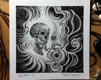 Ghost Tongue /// Original Graphite Art