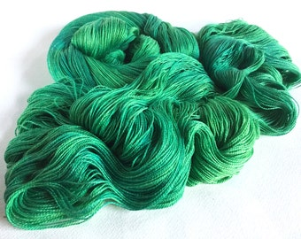 Leah. Silk / Cotton Lace Yarn. Blue Green Algae