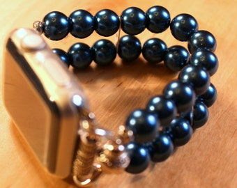 Watch Band for Apple Watch, Blue Pearl Apple Watch Bracelet, Watch Band, Watch Bracelet