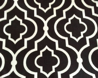 Black and White Patterned Cotton Decorator Fabric 2 1/2 Yards  X0690