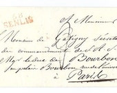 1820 PARIS Handwritten document - Paper ephemera from Paris, France - Circulated, stamped by post
