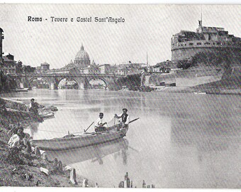 Early 1900s ROME Vintage postcard - Tevere e Castel Sant'Angelo - Unused blank