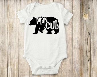 Bear, Cub,Bodysuit, shirt, onesie, baby clothes, animals