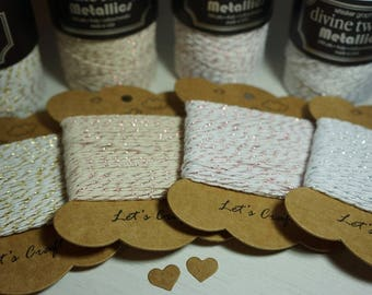 20m Divine Twine™ Metallics ~ 100% Cotton ~ 4 Ply ~ *Gifts*Tags*Cards* + post