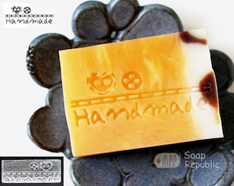 20% off ~ SoapRepublic Buttons and Handmade Acrylic Soap Stamp / Cookie Stamp / Clay Stamp