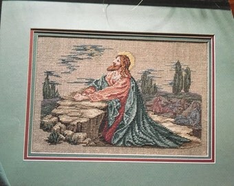 Jesus in the Garden  Cross Stitch pattern book Leisure Arts Leaflet 2415 from 1993