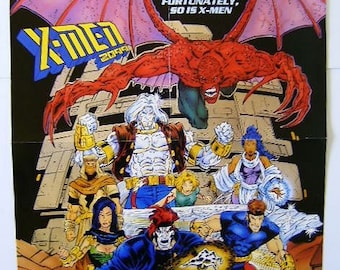 Rare vintage original 1993 X-Men 2099 Marvel Comics 22x 17 comic book promotional promo poster 1: 1990's/Never for sale to the public pin-up