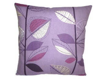 "Big 22"" Pillow Cover Damson Purple Grape 4 CHOICES Mix Match Designer Gray Cushion Cover Sham Slip Scatter Euro Throw"