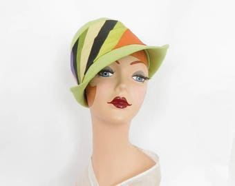 Dache vintage hat, fedora lime green chartreuse