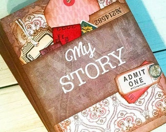 My Story Journal Notebook Diary Life Story Sketchbook Art Journal Keepsake with Unlined Pages Gift for Her