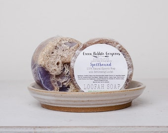 Natural Soap, Loofah Soap, Spellbound, 4.5 oz. by green bubble gorgeous on etsy