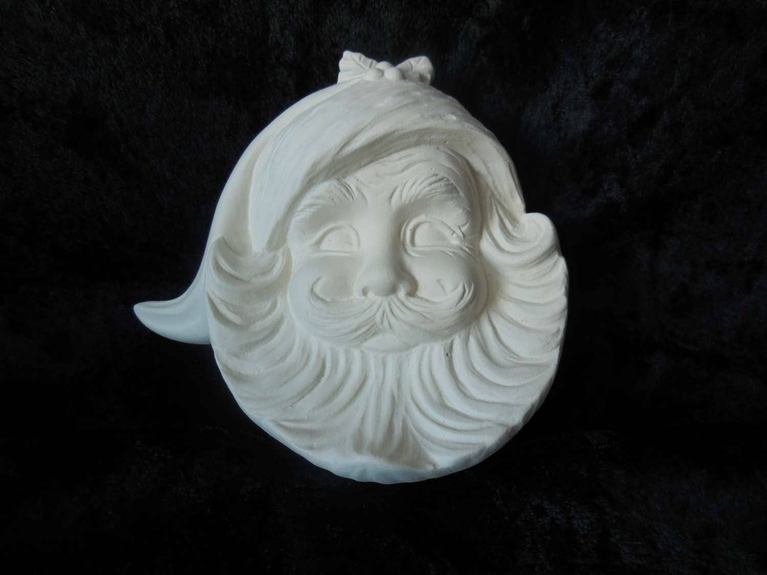 Santa face ornaments -  Santa Face Ornament Silent Sale Sold By Beckeandbailey