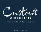 Custom Order for Amy - 3 Custom Name labels white
