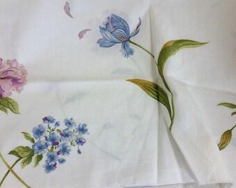 Iris poppy tulip and lilacs fabric / 2 pcs 27x44 each