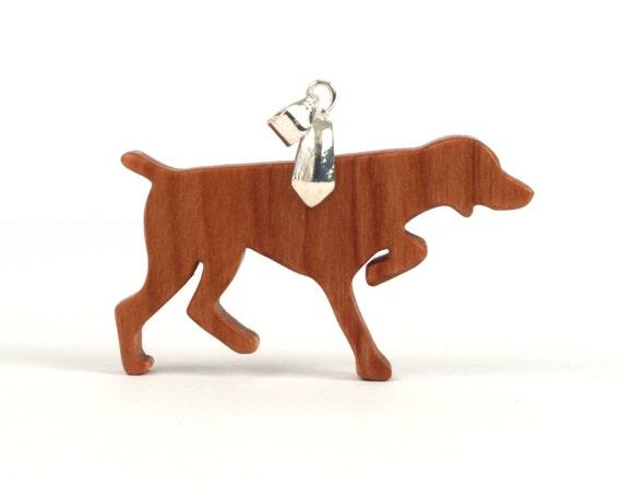 Pointer Pendant, Bird Dog Necklace, Hunting Dog Jewelry, English Pointer Necklace, Dog Breed Pendant, Cherry