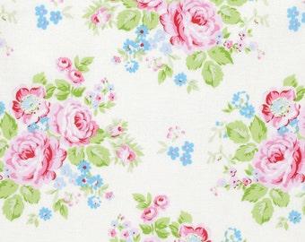 Rambling Rose - White Rambling Rose by Tanya Whelan for Freespirit Fabrics