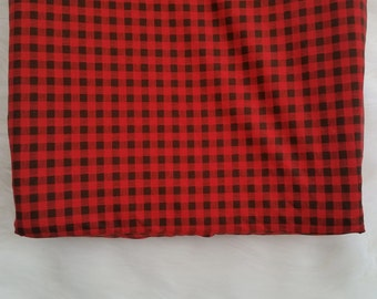 Red plaid changing pad cover, adventure plaid, conoured changing pad cover